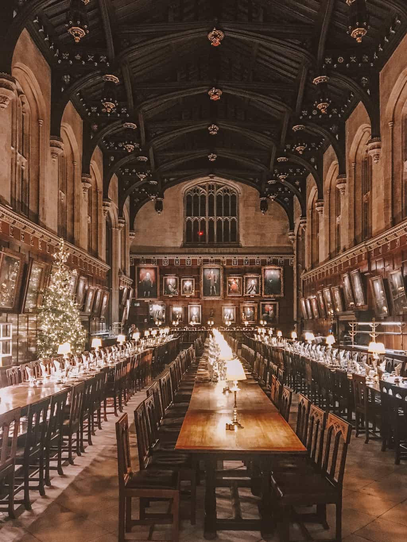 "Inside Christ Church Dining Hall aka the ""Harry Potter Dining Hall"""